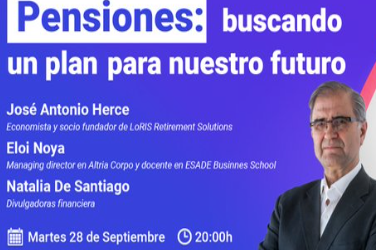 Pensiones: buscando un plan para nuestro futuro (martes 28 de septiembre a las 20:00h)